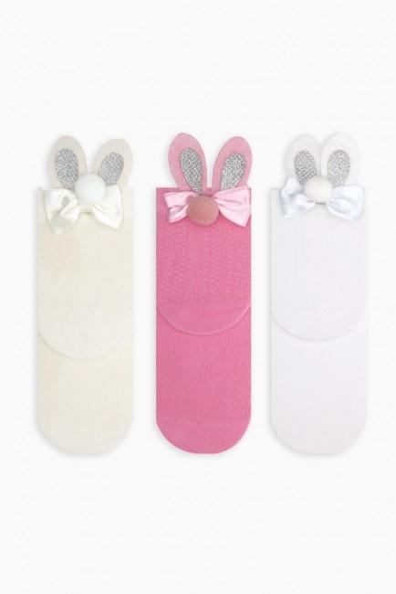 Bross - Bross 3-Piece Rabbit Accessory Kids Socks