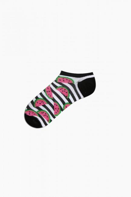 Bross 3-Piece Watermelon Patterned Sports Women's Socks - Thumbnail