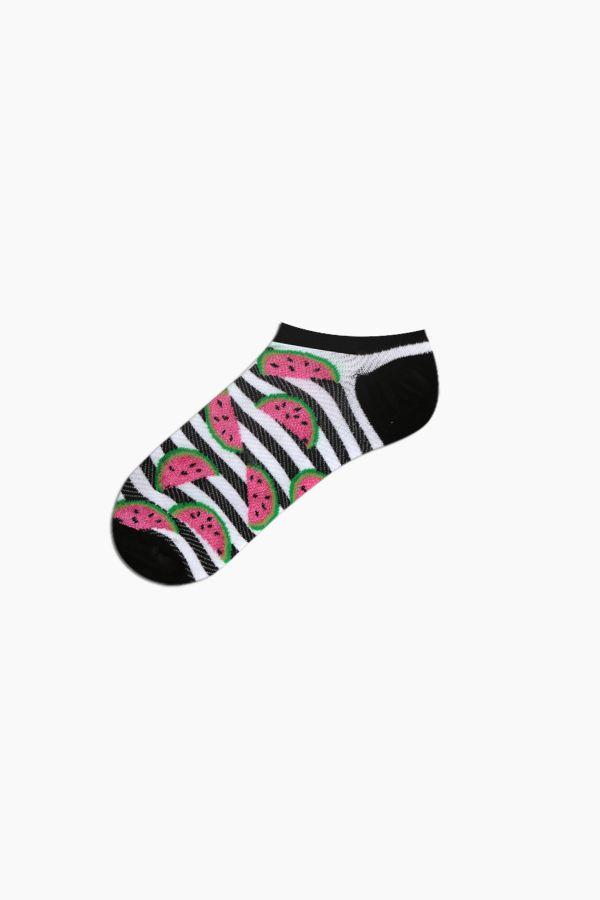 Bross 3-Piece Watermelon Patterned Sports Women's Socks