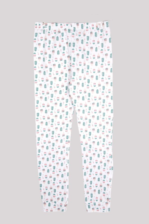 Ice Cream Patterned Women's Jogger and Booties Socks Combination