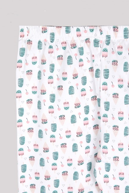 Ice Cream Patterned Women's Jogger and Booties Socks Combination - Thumbnail