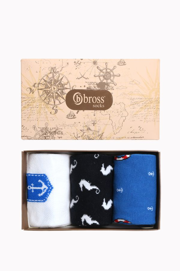 Marine Collection Boxed 3-Piece Men's Socks 2