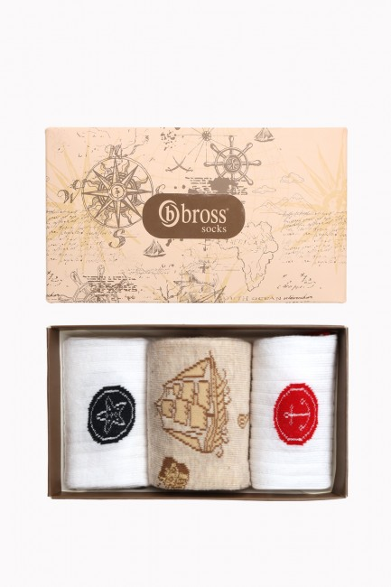 Marine Collection Boxed 3-Piece Women's Socks 1 - Thumbnail