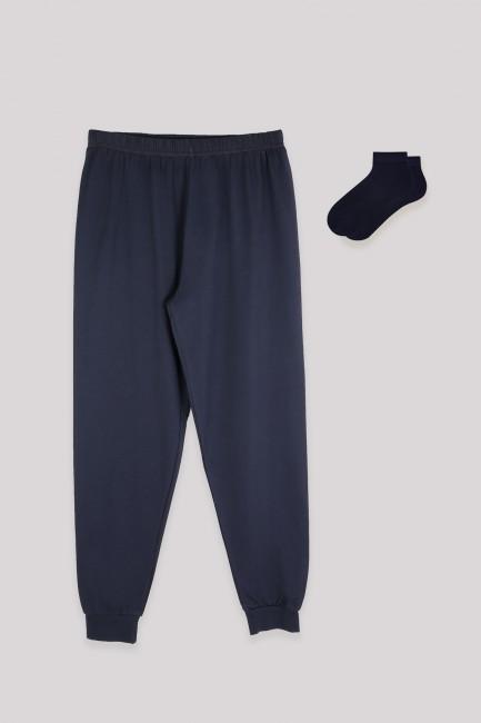 Bross - Men's Navy Blue Jogger and Booties Socks Combine