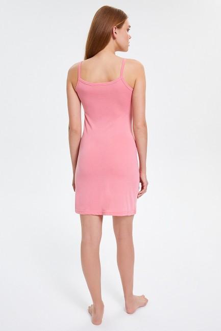 Flamingo Desenli Askılı Kadın Elbise Pijama - Thumbnail