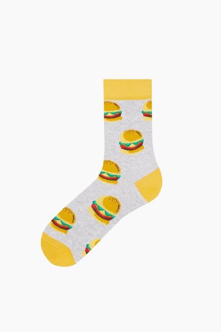 Bross - Hamburger Desenli Erkek Çorabı