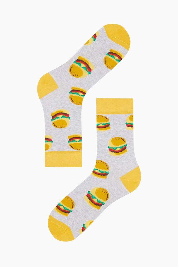 Bross Hamburger Desenli Erkek Çorabı