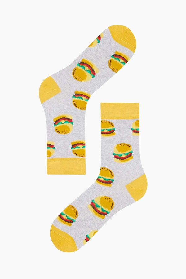 Hamburger Pattern Men s Socks