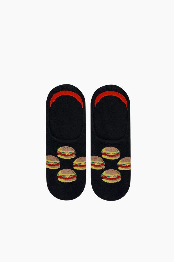 Hamburger Patterned Babette Socks