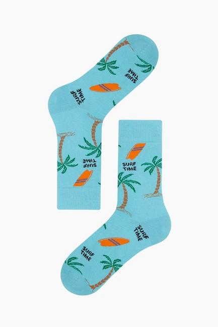 Hawai Desenli Erkek Çorabı - Thumbnail