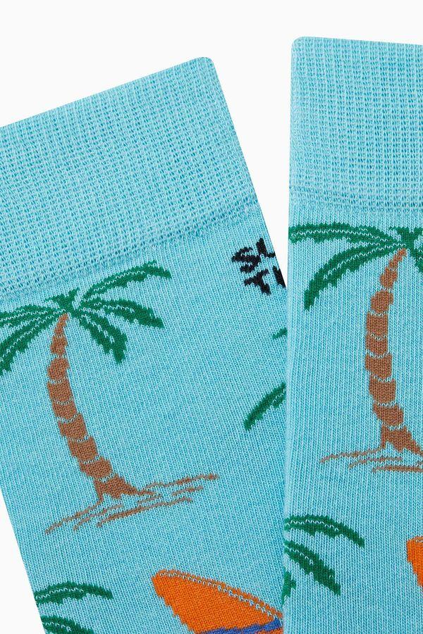 Hawai Desenli Erkek Çorabı
