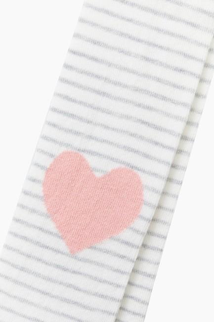Heart Pattern Kids Tights - Thumbnail