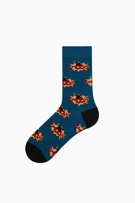Bross - Bross Boom Patterned Men's Socks