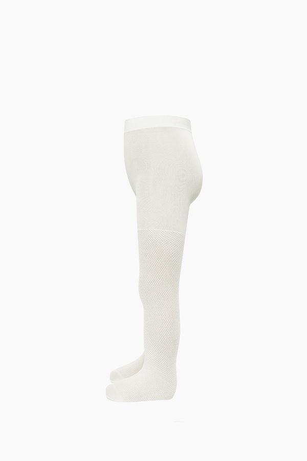 Kabartma Desenli İnce Külotlu Çocuk Çorabı
