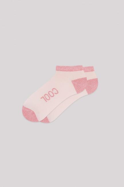 Kadın Jogger ve Patik Çorap Kombini Pudra - Thumbnail