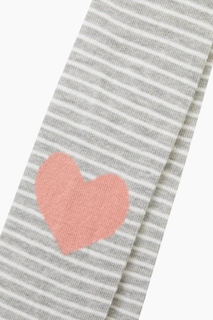 Bross Kalp Desenli Çocuk Külotlu Çorap - Thumbnail