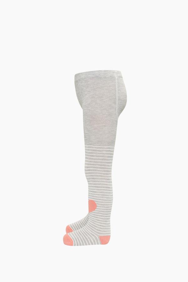 Kalp Desenli Çocuk Külotlu Çorap