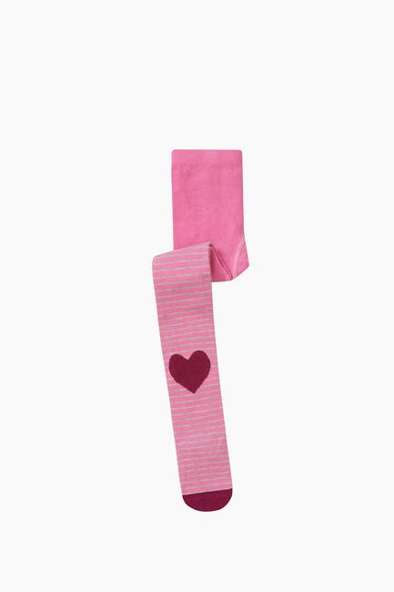 Bross - Kalp Desenli Çocuk Külotlu Çorap