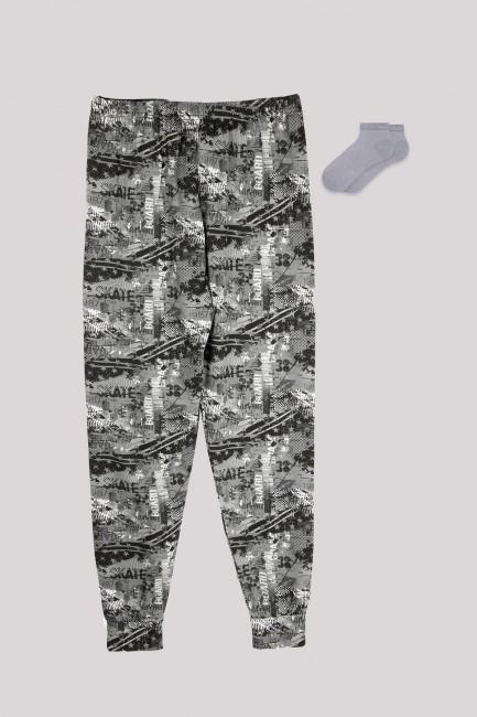 Bross - Kombination aus Jogger- und Bootiesocken mit Camouflage-Muster