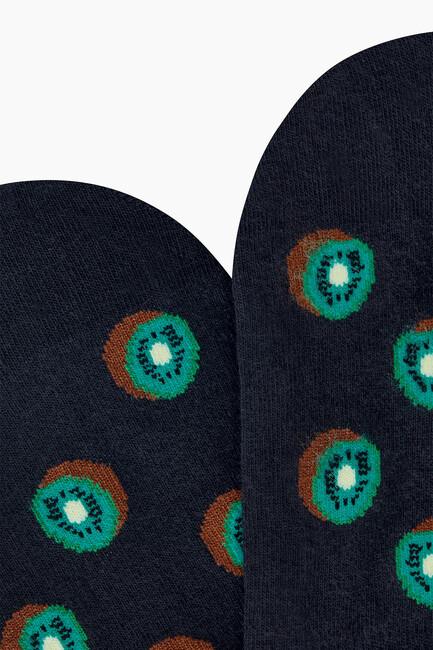 Kivi Desenli Babet Erkek Çorabı - Thumbnail