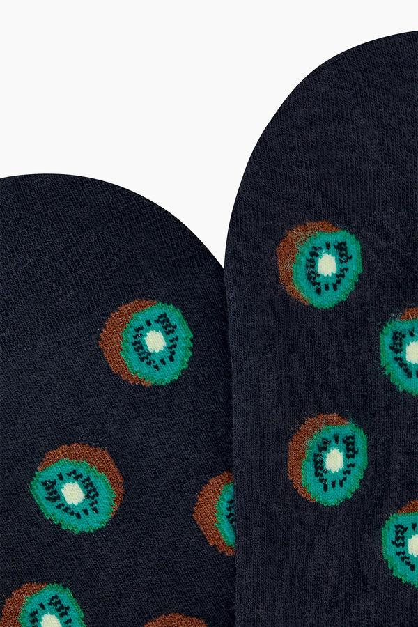 Kiwi Patterned Babette Socks