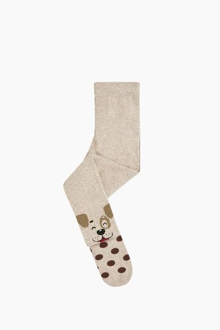 Bross - Köpek Desenli Çocuk Külotlu Çorap