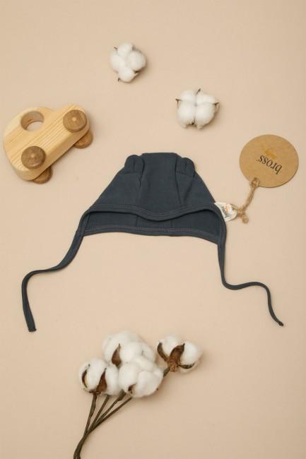 Bross - Kulaklı Organik Bebek Şapkası