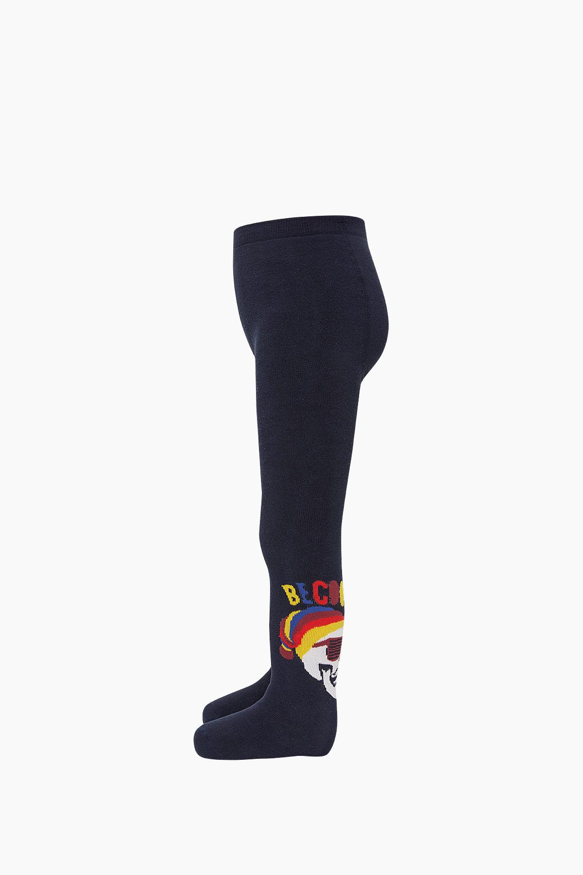 Bross Kuru Kafa Desenli Havlu Külotlu Çocuk Çorabı - Thumbnail