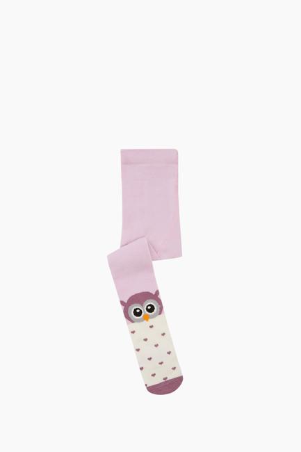 Bross - Kuş Desenli Bebek Külotlu Çorap