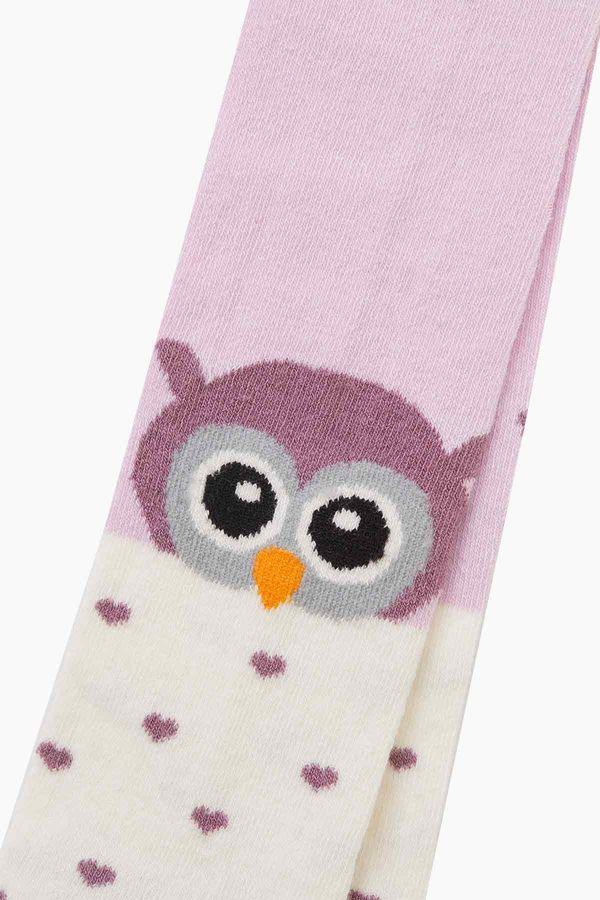 Kuş Desenli Bebek Külotlu Çorap