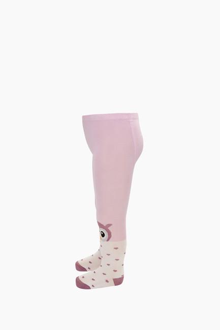 Kuş Desenli Bebek Külotlu Çorap - Thumbnail