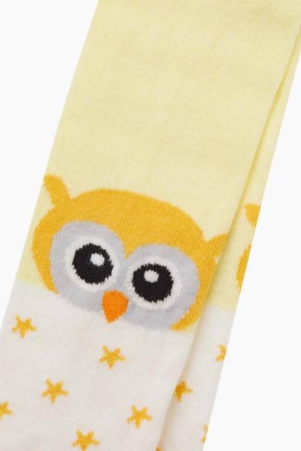 Bross Kuş Desenli Bebek Külotlu Çorap - Thumbnail