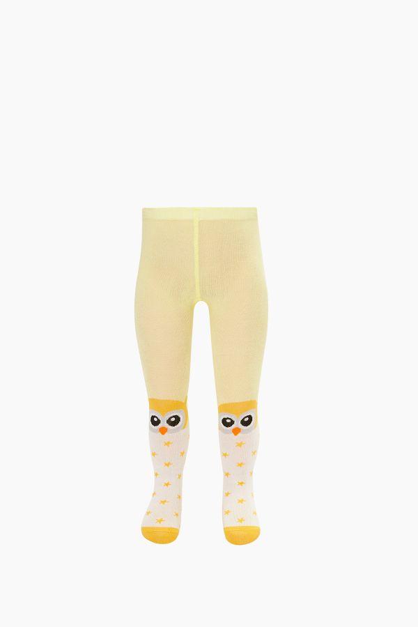 Bross Kuş Desenli Bebek Külotlu Çorap