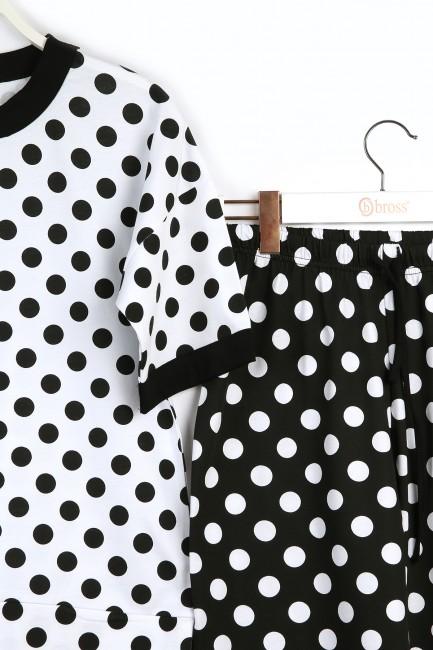 Kutulu Anneler Günü Kısa Kollu Pijama Takımı - Thumbnail