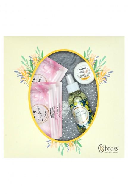 Bross - Kutulu Kısa Kollu Dantelli Anneler Günü Pijama Takımı