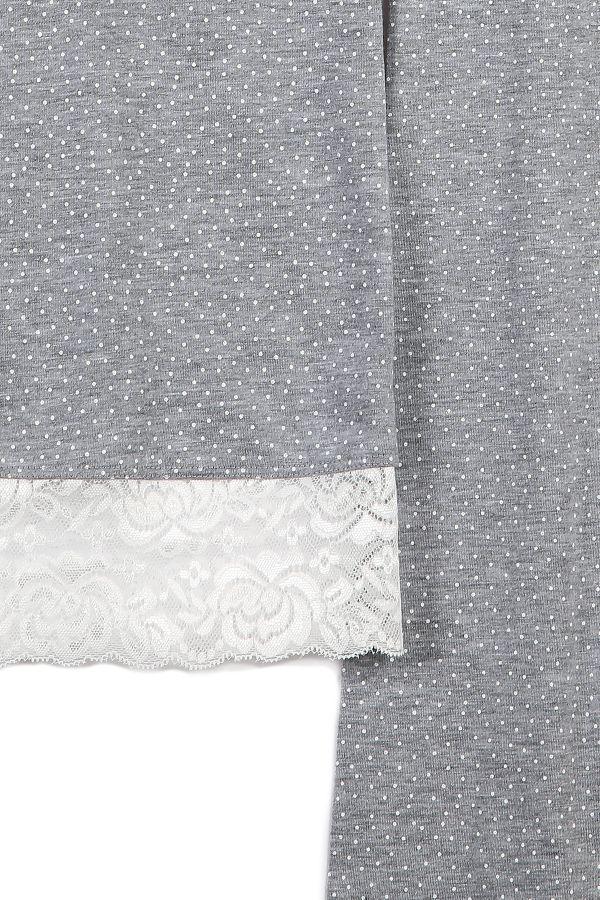 Kutulu Kısa Kollu Dantelli Kadın Pijama Takımı