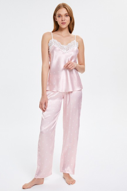 Bross - Lace Strappy Women's Pyjama Set