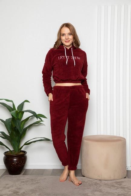 Bross - Long Sleeve Hooded Women's Pyjamas Set