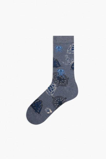 Marine Collection Kutulu 3'lü Erkek Çorabı 1 - Thumbnail