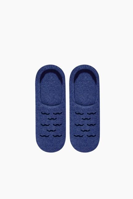 Bross Martı Desenli Babet Erkek Çorabı - Thumbnail