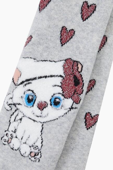 Miniş Kedi Havlu Külotlu Bebek Çorabı - Thumbnail