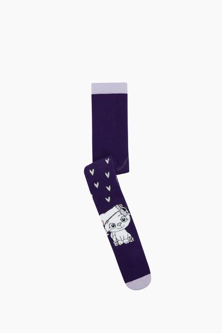 Bross - Bross Miniş Kedi Havlu Külotlu Bebek Çorabı