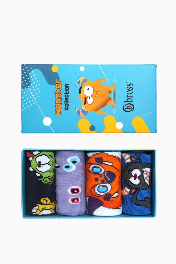 Monster Collection Kutulu 4'lü Çocuk Çorabı 2