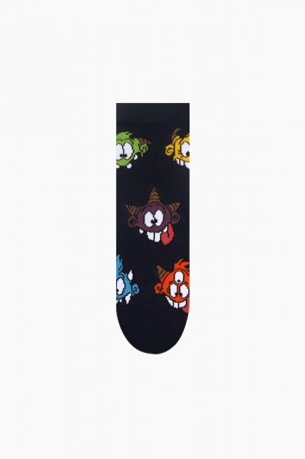 Monster Collection Kutulu 4'lü Çocuk Çorabı 2 - Thumbnail