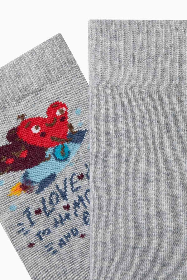 Moon and Back Darling Combine Couple Socks