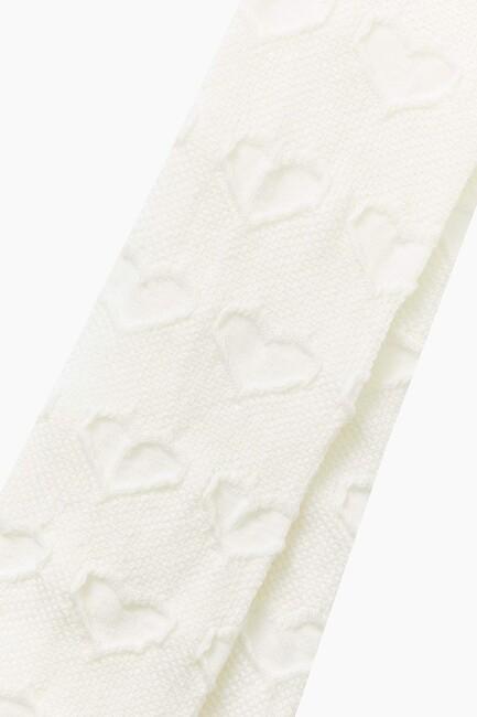 Organic Cotton Heart Pattern Kids Tights - Thumbnail