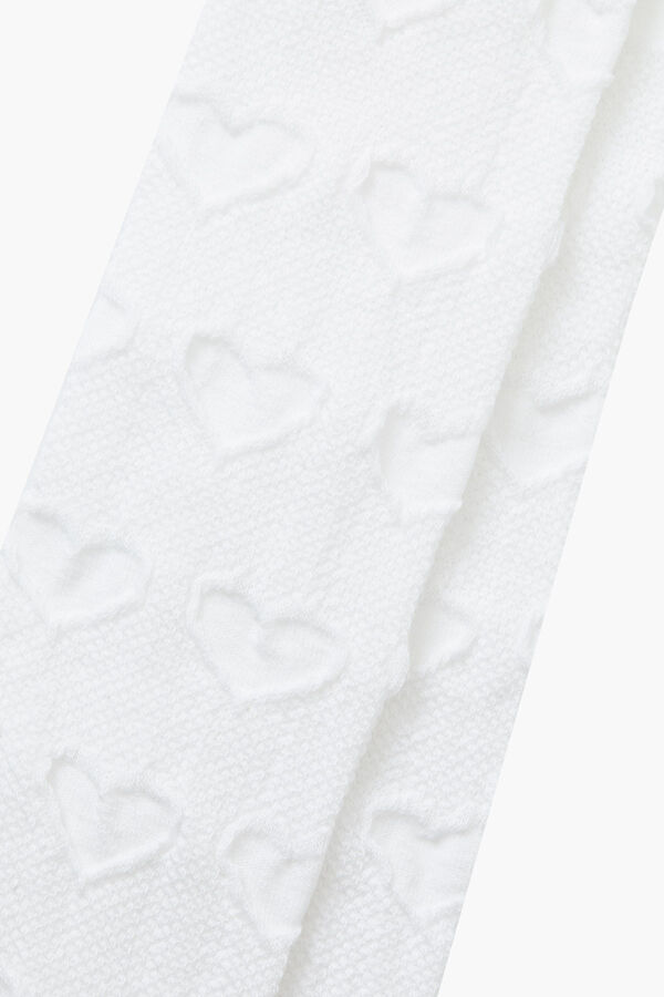 Organic Cotton Heart Pattern Kids Tights