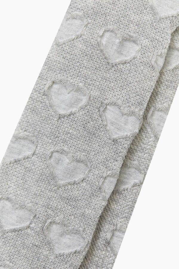 Organik Pamuk Kalp Desenli Külotlu Çocuk Çorabı
