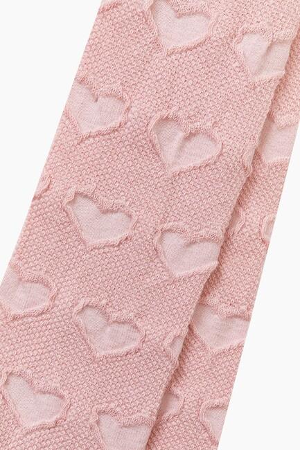 Bross Organik Pamuk Kalp Desenli Külotlu Çocuk Çorabı - Thumbnail