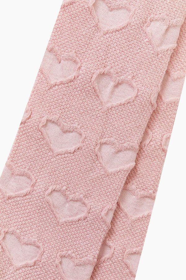 Bross Organik Pamuk Kalp Desenli Külotlu Çocuk Çorabı